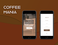 Coffee Mania Signup UI
