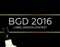 BGD 2016 - Label design