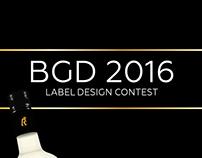 BGD 2016 - Label design