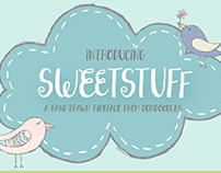 Sweetstuff Hand Drawn Typeface from dodidoodles