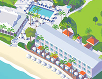 Visitor map for a hotel resort in Barbados