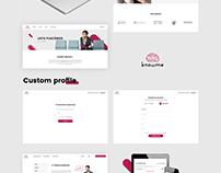 Knowme web design
