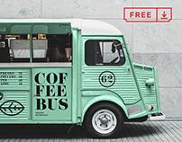 Free Citroen Food Truck Mockup