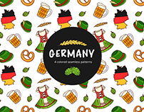 Germany Vector Free Seamless Pattern