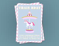 Convite de Aniversário - Tema Carrossel