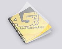 A5 Spiral Book Mockups