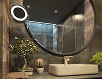 A bathroom in an apartment club house Hoholivs'ka 47