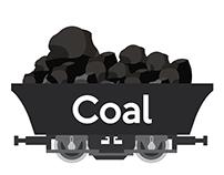 Pile of charcoal,Coal Mine Wagon