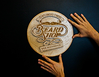Layered Plywood Sign for Beard Shop