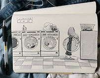 Inktober day 8: Laundry
