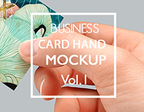Photoshop Business Card Hand Mock-up