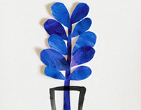 Blue Plant in a Vase
