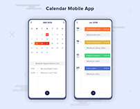Calendar For Mobile | UX UI Design