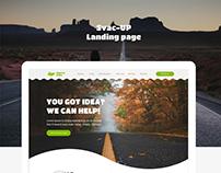 Svac Up Landing Page Design