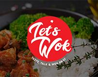 """Branding y diseño de imágenes de marca de """"Let´s WOK"""""""