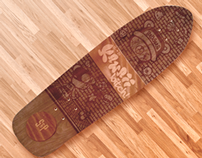 Skateboard Custom - It's Kawaii, b♥tch!
