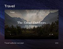 Travel Website Concept