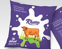 Rhema milk logo & packaging presentation.