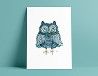 'Drawing an Owl a Day' Illustrations