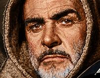 Editorial Illustration: Sean Connery