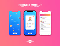 Free iPhone 8 Mockup For Screens Display