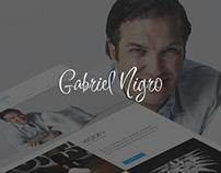 Gabriel Nigro | Re-design