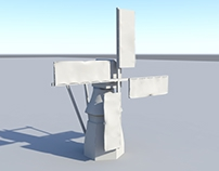 3D Windmill Model - Maya