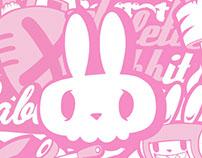 Bike rabbit 'BABBIT' character pattern snowboard pants