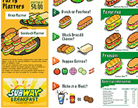 Pixel Art Menu (SUBWAY sandwich)