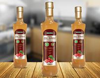 Ekstraktlı Sirke Etiketi Tasarımı Vinegar Label Design
