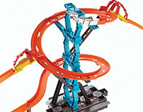 Hot Wheels Track Builder Spiral Stack-Up Trackset