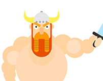 Flat Design Character - Viking