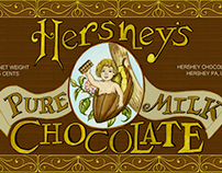 Vintage Milton Hershey Chocolate Labels