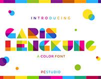 Garis Lengkung - Color Font