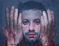 PROCESS - Self Portrait painting