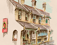 """The Terraces"" - Digital Drawing"