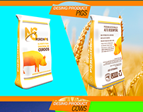 Product design packing pigs & cows. Brand and desing.