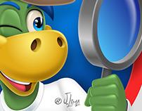 Logo design with mascot Dino Danone