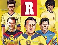 Ilustraciones revista '100 años del equipo América'