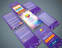 The Celebrator app UI design