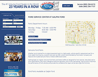 Galpin Ford : Responsive Website Design