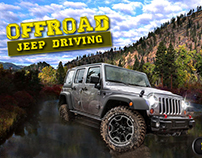 OFFROAD Jeep Driving game HUD