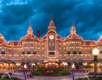 Disneyland Hotel at Night