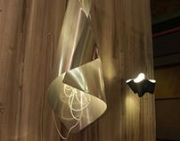 "Light sculpture ""Cone"""