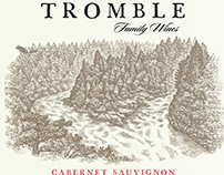 Tromble Family Wines Label illustrated by Steven Noble