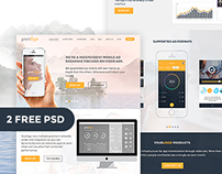 Yourlogo 2 FREE PSD website template