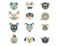 Illustration - Chinese Horoscope Calendar