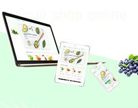 Website for online store fruit