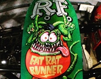 "The Rat Fink Longboard. Ed ""Big Daddy"" Roth tribute."