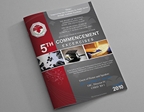 Graduation program covers.